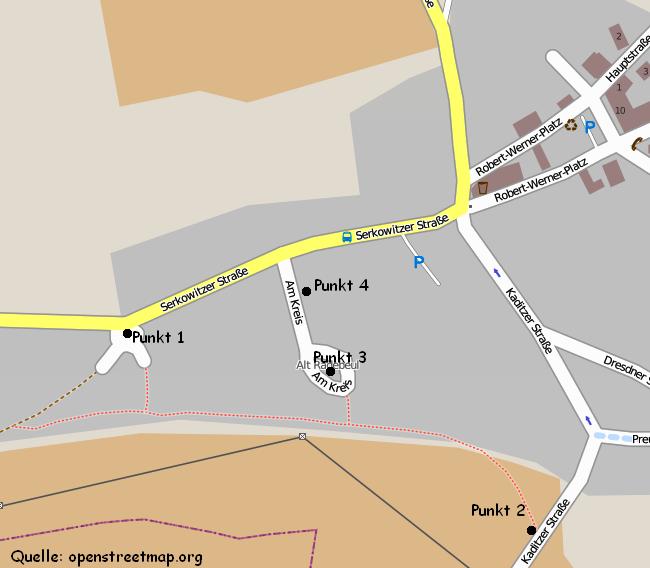 OSM-Karte von Alt-Radebeul