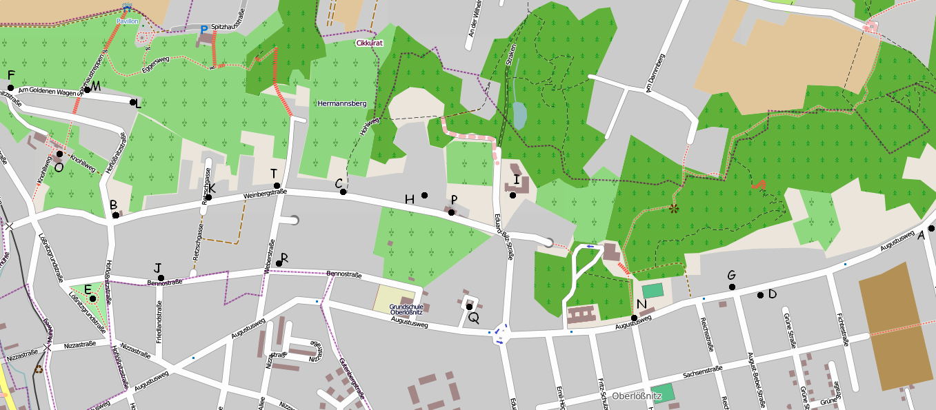 OSM-Karte von Oberlößnitz